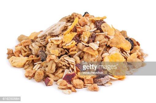 heap of healthy muesli : Foto de stock