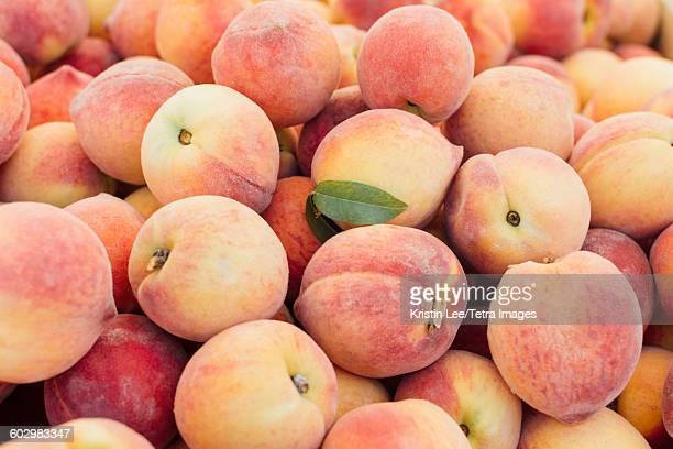 Heap of peaches