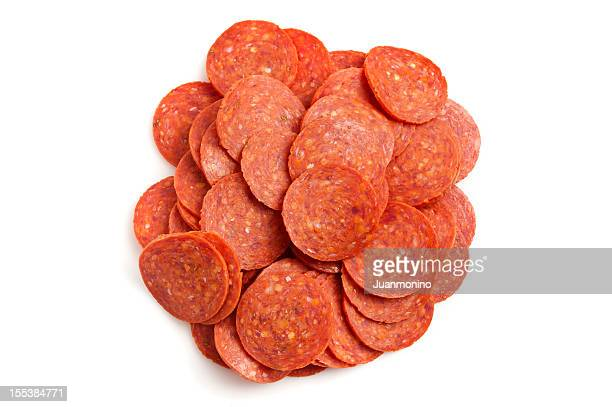 Heap of pepperoni