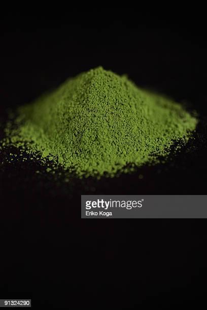 Heap of powdered green tea