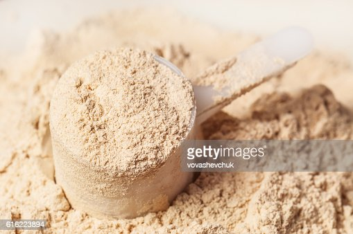 heap of protein powder : Stockfoto