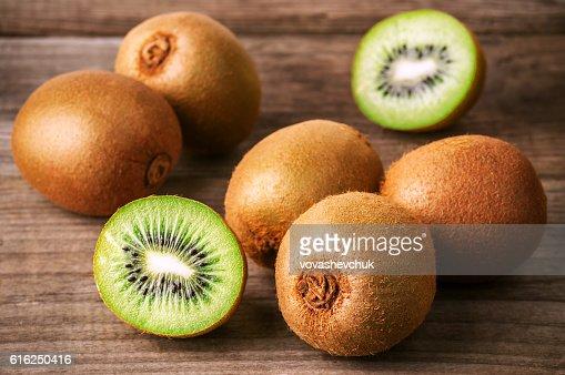 heap of ripe kiwi : Stock Photo