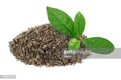 Heap of tea leaves