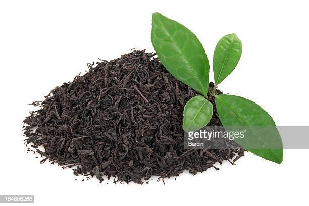 Haufen von Teeblätter