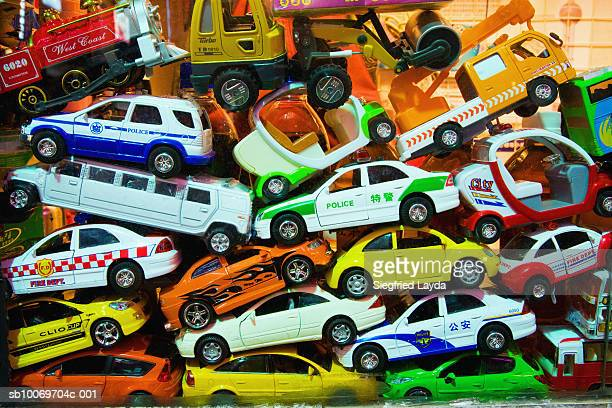 Heap of toy cars, close-up