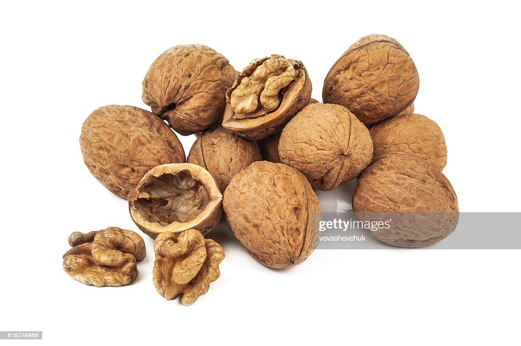 heap of walnut : Stock Photo