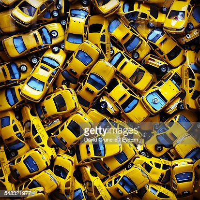Heap Of Yellow Taxi Cabs