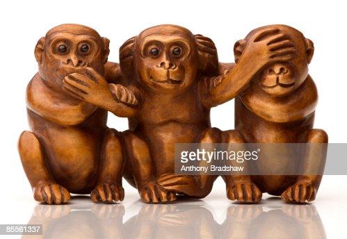Hear no evil see no evil speak no evil : Stock Photo