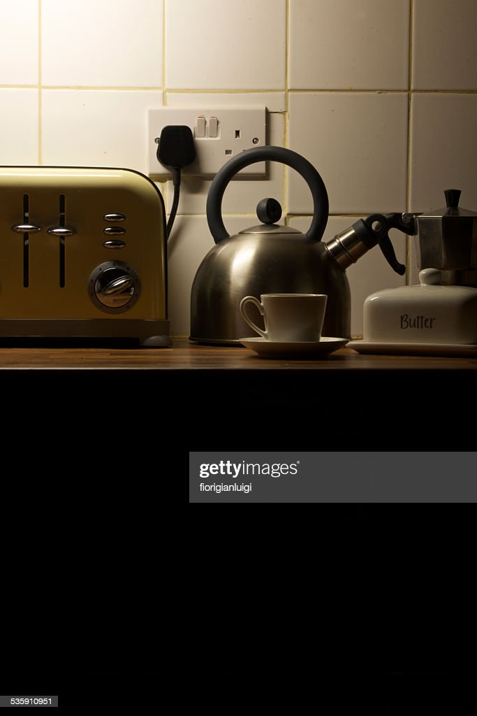 hearly morning espresso is ready : Stock Photo