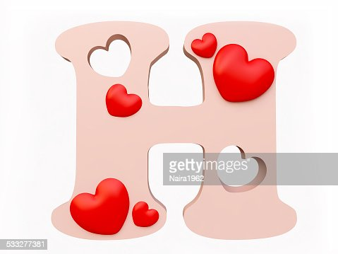 heart alphabet letter h stock photo | thinkstock