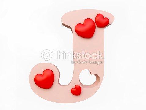 Heart Alphabet Letter J Stock Photo Thinkstock