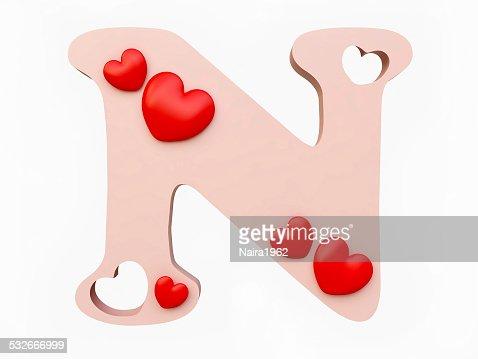 heart alphabet letter n stock photo thinkstock