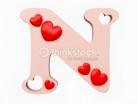 Heart Alphabet Letter N Stock Photo | Thinkstock