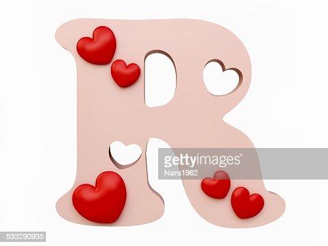 R Alphabet In Heart Heart Alphabet Letter ...