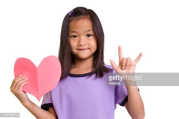 Coração e amor sinal