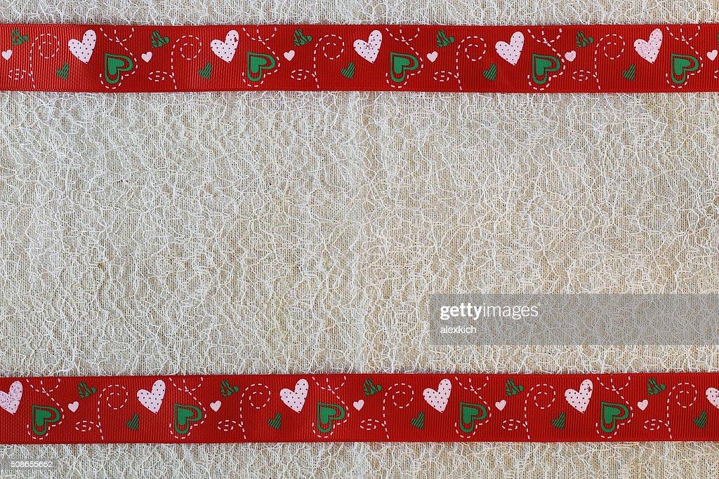 heart background fabric : Stock Photo