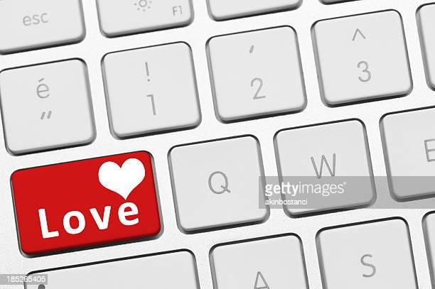 Cœur bouton de clavier