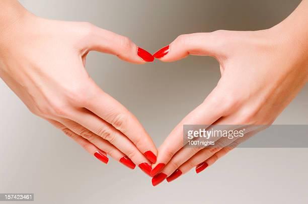 Herzen von Händen