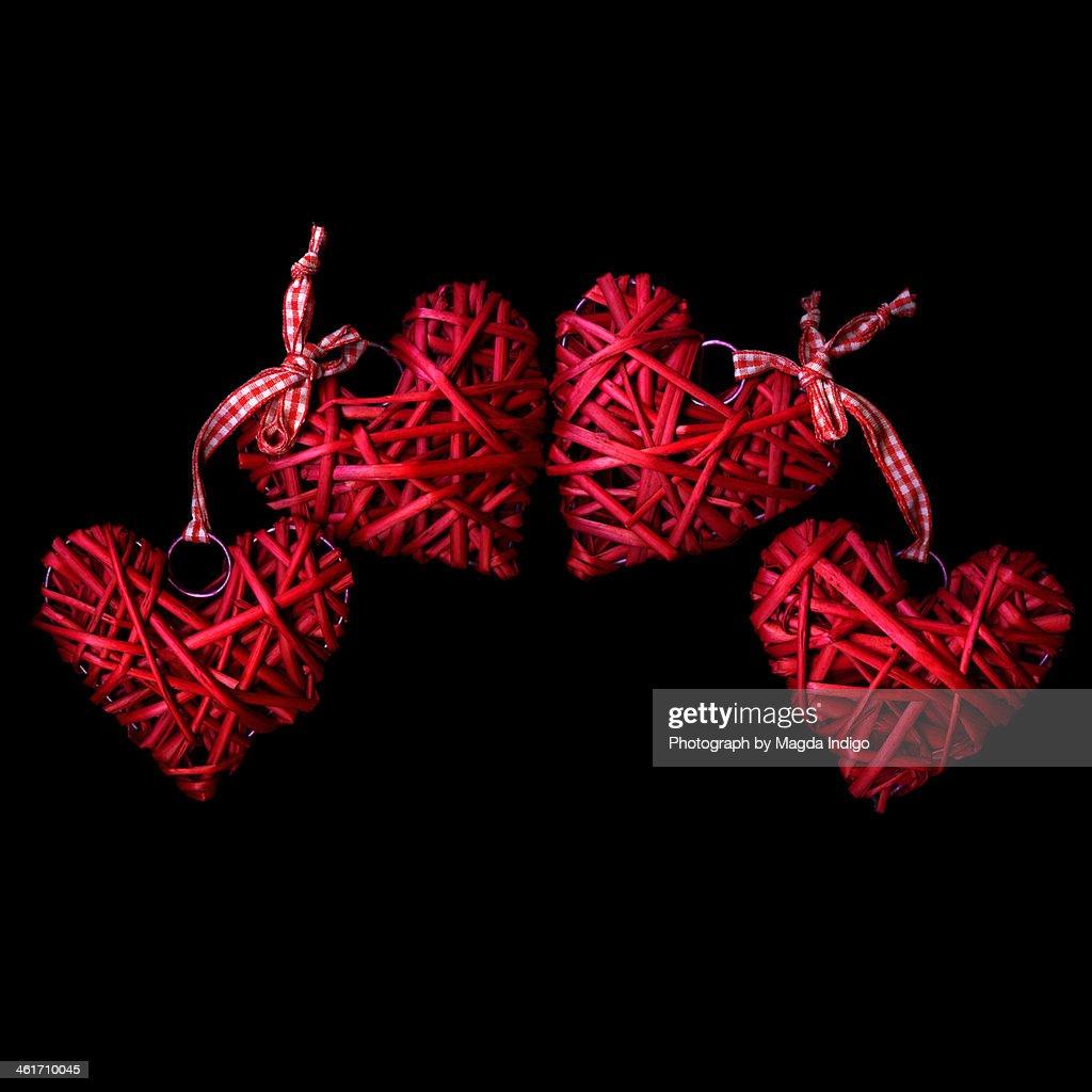 Heart by heart : Stock Photo