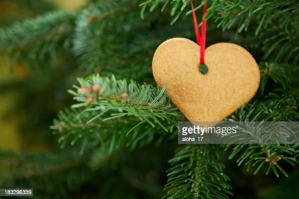 Herz cookie an der christmas tree