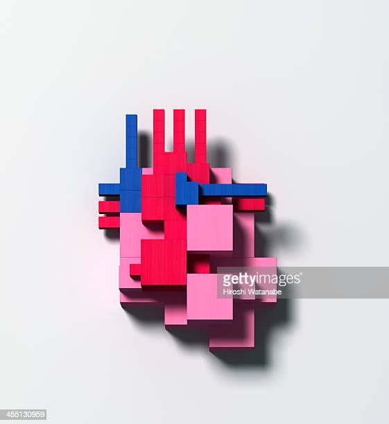 Heart disease made of wooden blocks