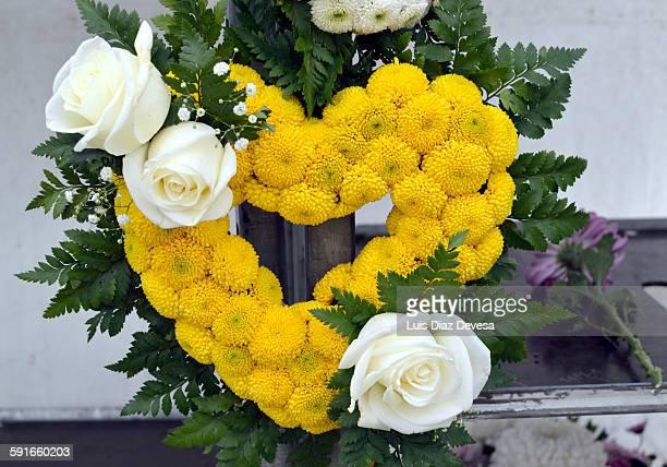 Heart flower wreath