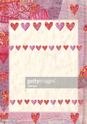 Heart, greeting card for Valentine's Day : Stock Photo