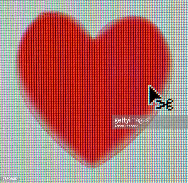 Heart icon with cursor