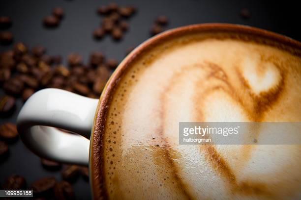 Herz im Café Latte Art