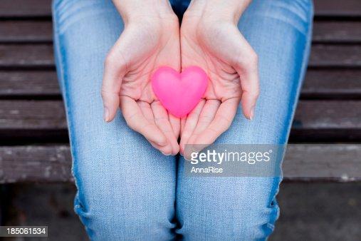 Heart In Hands : Stock Photo