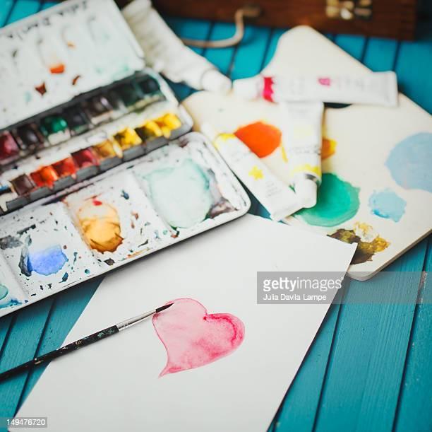 Heart in watercolors