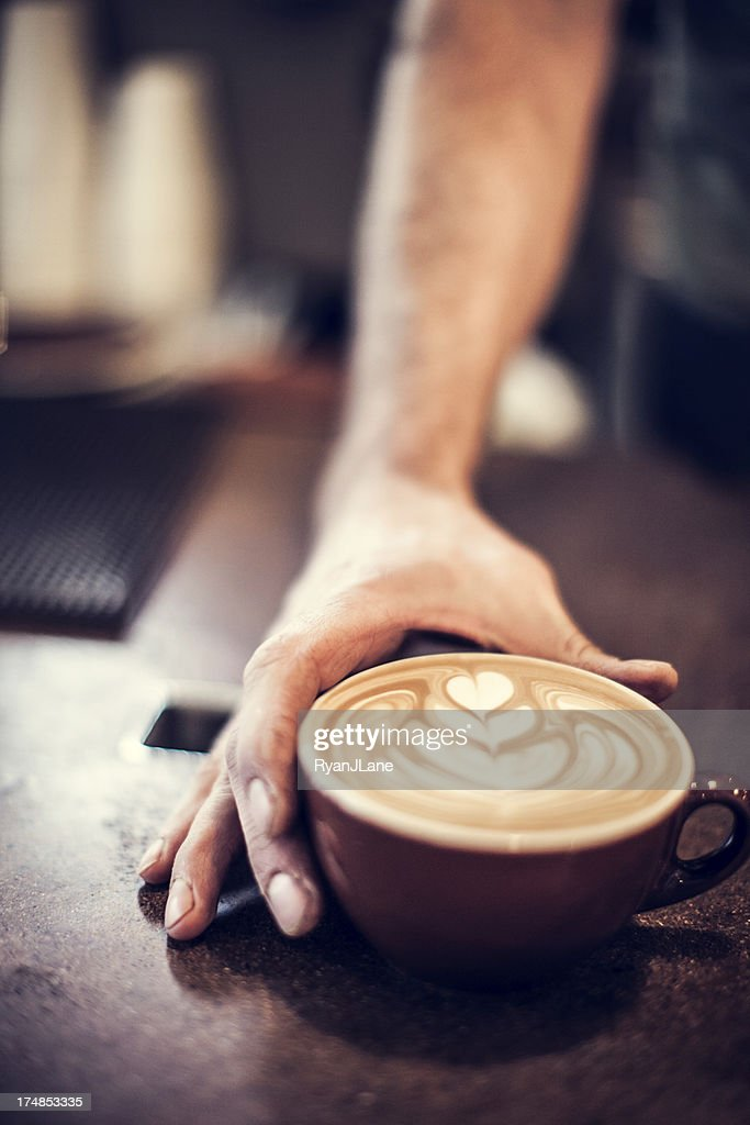 Heart Latte Froth Art : Stock Photo