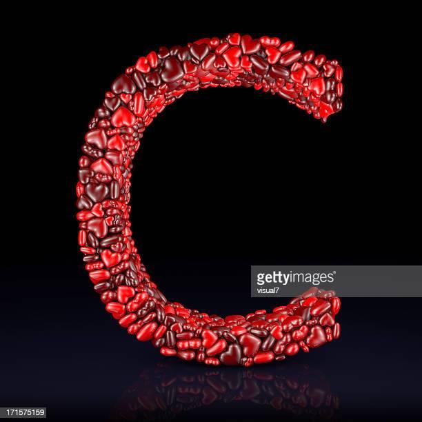 Heart Letter C