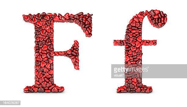 Cœur Lettre F