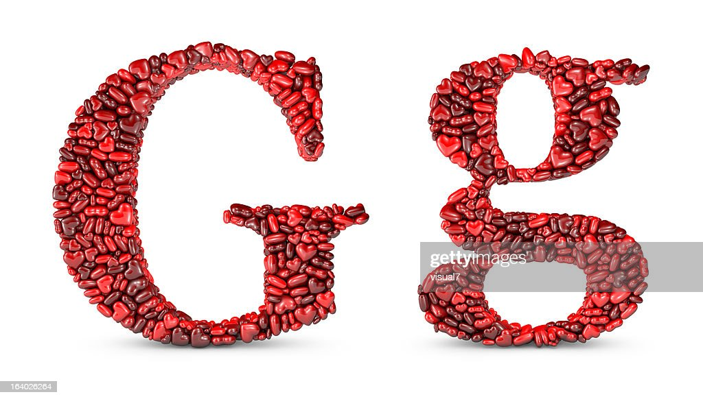 Heart Letter G : Stock Photo