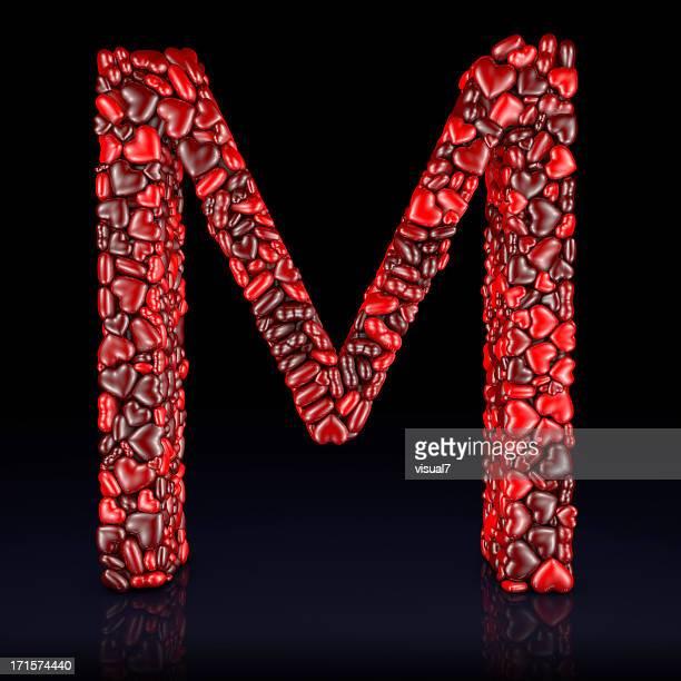 Heart Letter M