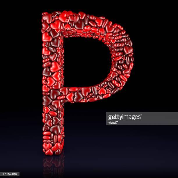 Heart Letter P
