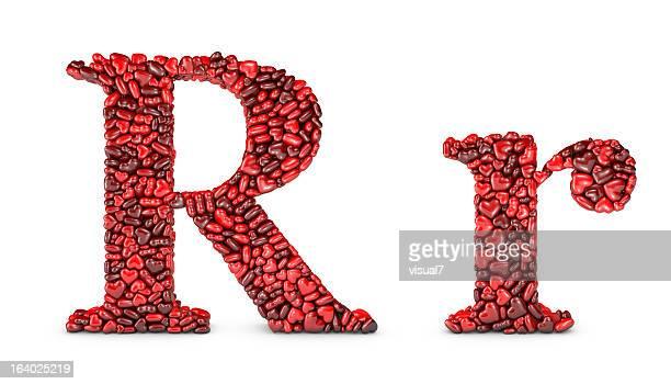 Heart Letter R