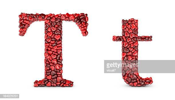 Heart Letter T