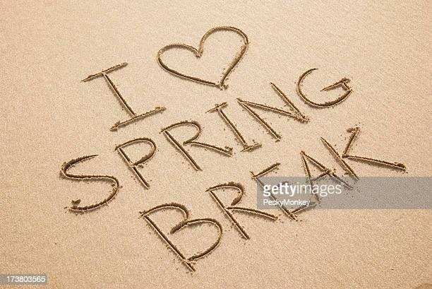 I Heart Love Spring Break Beach Sand Message