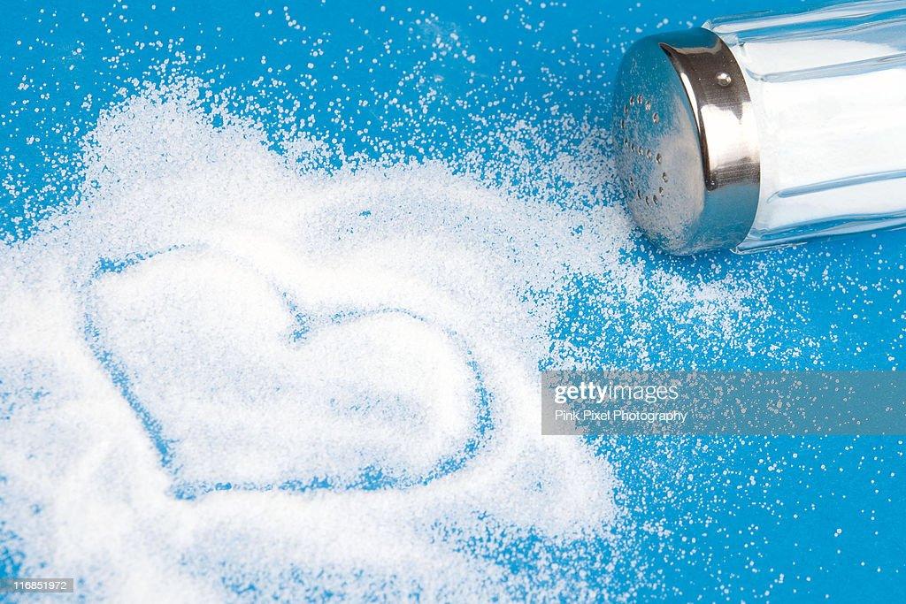 Heart made of salt
