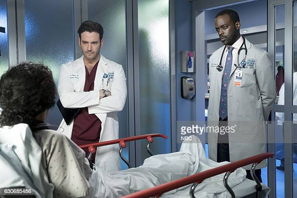 MED 'Heart Matters' Episode 210 Pictured Colin Donnell as Connor Rhodes Ato Essandoh as Isidore Latham