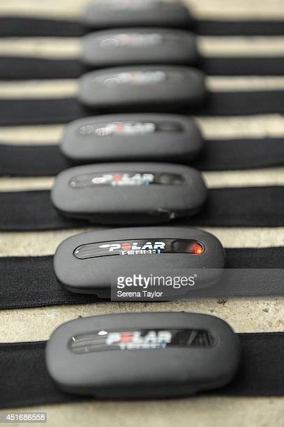 Heart Monitors after a Newcastle United first team fitness testing at the Newcastle United Training Centre on July 04 in Newcastle upon Tyne England