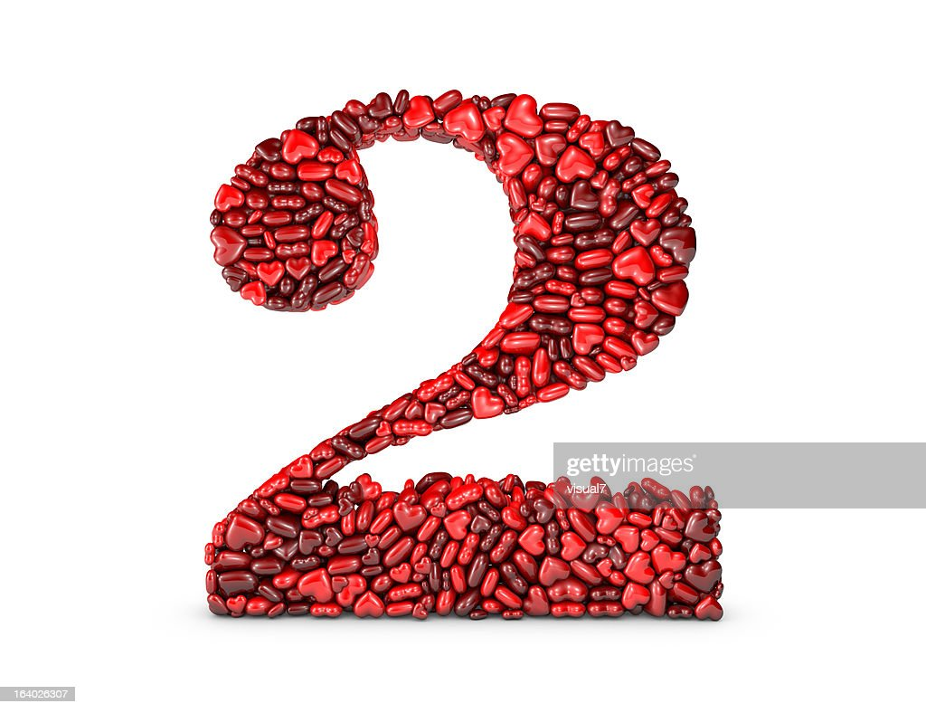 Heart Number 2 : Stock Photo