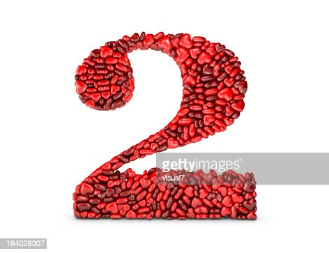 Heart Number 2 : Stockfoto