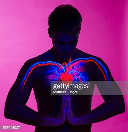 Heart of a man : Stock Photo