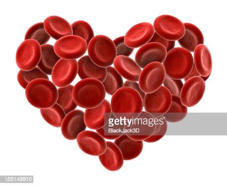 Cuore di cellule del sangue