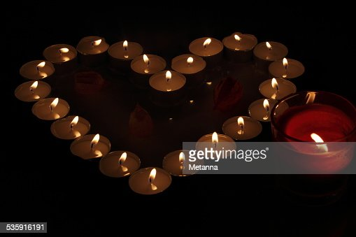 Heart of candles : Stock Photo