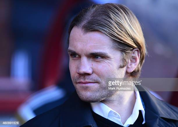 Heart of Midlothian Manager Robbie Neilson on the sideline during the Scottish Championship match between Heart of Midlothian FC and Hibernian FC at...