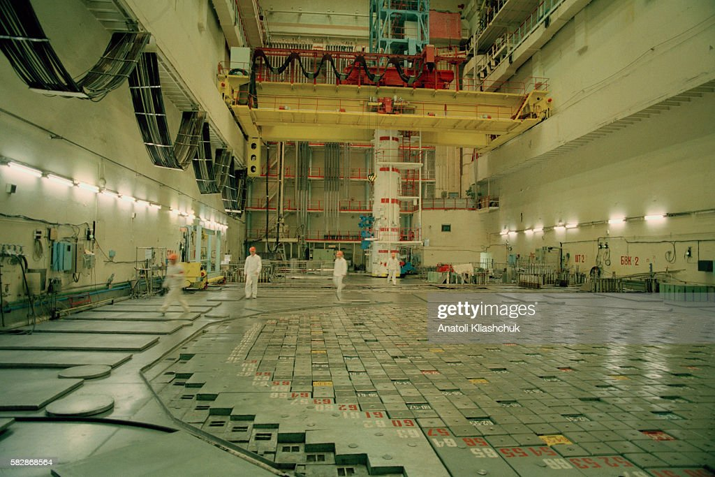 Heart of nuclear reactor n° 3 at Chernobyl nuclear power plant